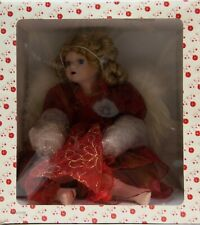 Dillards Beautiful Christmas Angel Doll with Red Dress and Wings NIB