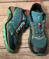 Merrell Womens Siren Edge Blue Lace-up Running Shoe Sneaker Size 9.5 J35514
