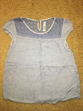 Girls' Cherokee Light Blue Top/ Shirt With Triangle / Square Pattern XL 14/16