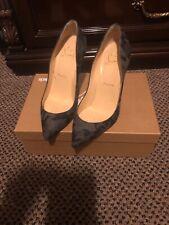 christian louboutin Gray Black Flannel Pigalle Pumps Size 35