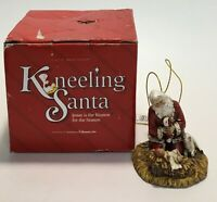 Kneeling Santa Baby Jesus Lamb Christmas Ornament Roman Inc 26779F Vintage New