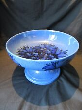 RARE EARLY WILLIAM MOORCROFT, BLUE CORNFLOWER LARGE TABLE CENTRE PEDESTAL BOWL