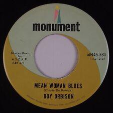 ROY ORBSION: Mean Woman Blues / Blue Bayou MONUMENT Rockabilly 45 NM- MP3