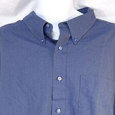 Men's Dress Shirt Long Sleeve 20 36 Tall Made in USA Hathaway Classic Blue