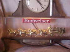 WORLDS FAMOUS CLYDSDALE HORSES TEAM, LIGHTED CLOCK, ANHEISER BUSH CORP.92