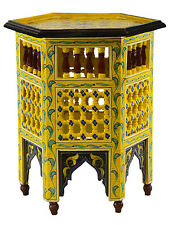 Moroccan wood End Corner Table Coffee Middle Eastern Arabesque Arabic Handmade