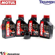 KIT TAGLIANDO OLIO + FILTRO MOTUL 7100 10W40 4L TRIUMPH 1050 SPEED TRIPLE 2010