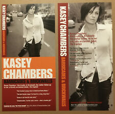KASEY CHAMBERS Rare 2002 DOUBLE SIDED PROMO POSTER FLAT for Barricades CD 12x24