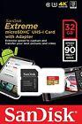 SanDisk Extreme 90MB/s 32GB microSD micro SDHC SD Class 10 UHS-1 U3 Card  4K
