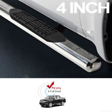 "4"" STAINLESS CHROME SIDE STEP NERF BARS RAIL RUNNING BOARD 06-14 HONDA RIDGELINE"
