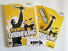 WE ROCK: DRUM  KING videogioco per WII italiano USATO garantito
