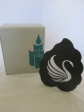 Partylite Swan Tea Light Sconce Metal & Glass Candle Holder with Box in Euc!