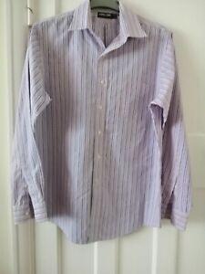 "MEN'S Kirkland Signature Strip non-iron tailored fit Shirt 16""collar chest 46"""