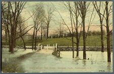 Rochester NY ~ Red Creek Genesee Park high water ~ postcard c1910
