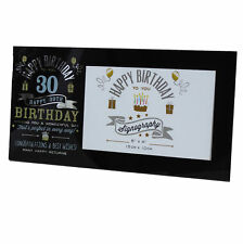 Vintage Signography Range Photo Frame - 30th Birthday