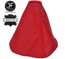 RED LEATHER MANUAL GEAR GAITER SHIFT BOOT FITS SEAT IBIZA CORDOBA 1999-2002