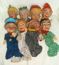 Vintage Hand Puppet Lot of 8 Various Character Puppets