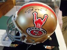 "Joe Montana Autographed/Signed ""Super Joe"" 4X CHAMP MINI HELMET UDA LE 338/416"