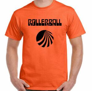 Rollerball T-Shirt Mens Classic Cult 70's Sci-Fi Movie James Caan Top Retro