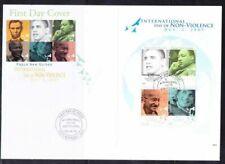 Papua New Guinea 2009 FDC, Gandhi, Nobel Martin Luther, Obama, Diana
