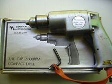 """CENTRAL 2800 RPM Pneumatic Air Drill Aircraft Tool 3/8""""  Vintage Collectible"""