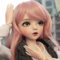 1/3 Ball Jointed BJD Puppe Doll Mädchen Mit Outfit Abnehmbare Augen Perücken Toy