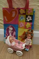 BARBIE CHELSEA DOLL WITH PUSHCHAIR PRAM AND BABY