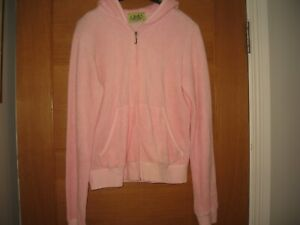 JUICY COUTURE WOMENS PINK TRACKSUIT TOP,SZ L,UK 12