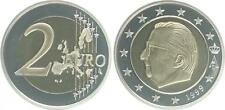 Belgien 2 Euro Kursmünze 1999 Polierte Platte  in Münzkapsel