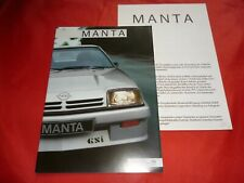 OPEL Manta B GT GSi 1.3 S 1.8 S 2.0i Prospekt Brochure von 1984