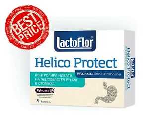 100% Lactoflor Helico Protect Probiotic Zinc PYLOPASS Counteracts the H. Pylori