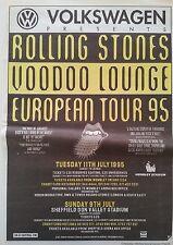 Rolling Stones Voodoo Lounge Euro Tour 95 Poster size Press Advert 1994