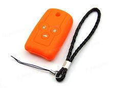 Orange Silicone Case Cover For Honda Accord Civic Odyssey Remote Flip Key HONF3O