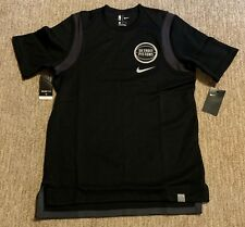 bd517a92ab18 Detroit Pistons Nike Top Short Sleeve Baller Shooting Shirt 859673 010 Sz L