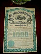 USA, New York & Chicago Railway Co, $1000 Mortgage Bond