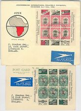 56322 - SOUTH AFRICA -  POSTAL HISTORY: SG 69/70 MINIATURE SHEET on FDC COVER