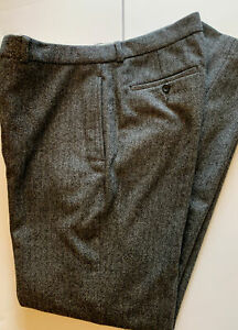 POLO RALPH LAUREN Wool Blend Soft Tweed Dress Pants Men's 34/34 Herringbone