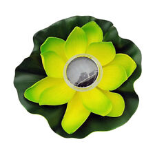 Acqua Galleggiante Lotus Solar Power LED Light 7 Colore Lampada Summer Decor