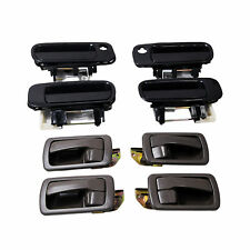 Black Outside & Brown Inside Door Handles Right Left Front Back For Camry 92-96