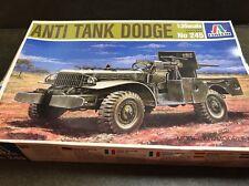 italeri 1/35 245 anti tank dodge (jeep) model military kit