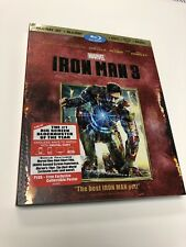 Iron Man 3 3D (Blu-ray/DVD, 2013, 3-Disc Set, Includes Slip Cover) Marvel