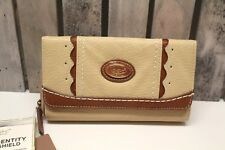 BOC Born Concept Wallet color Saddle NWT with RFID ID protection NWT