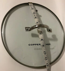 """Copper Chef  Replacement Lid 12 1/4"""" Diameter Round Glass Lid. Used"""