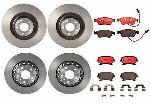 Brembo Front Rear Full Brake Kit Disc Rotors & Ceramic Pads For Audi A8 Quattro