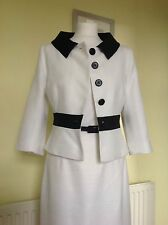 """BEAUTIFUL WHITE """"ARCHER"""" DRESS SUIT FROM HOBBS UK14  RRP £400.00"""