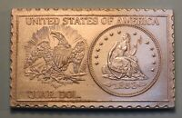 1853 United States Seated Quarter Dollar Numistamp Medal Coin 1975 Mort Reed