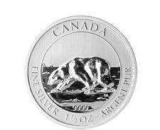Canadá 1,5 Oz 999 plata moneda de plata 2013 polares oso Royal Canadian Mint 8 CAD