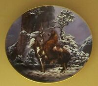 Mystic Warriors MYSTIC WARRIOR Native American Indian Plate Chuck Ren Winter