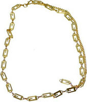 """#CH17 -  GOLD, SILVER OR BOTH """"G"""" DESIGNER STYLE METAL CHAIN BELT FOR WOMEN"""