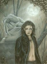 Jessica Galbreth Print Prince of Shadows Vampire Goth Male Man Guy Graveyard